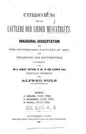 Untersuchung über die Lautlehre der Lieder Muscatblüt's ...