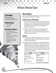 Writing Lesson Level 2 Using Your Voice As A Writer Book PDF