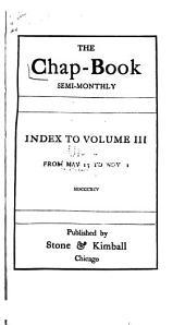 The Chap-book: Volume 3