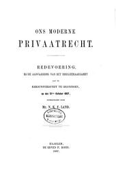 Ons moderne privaatrecht