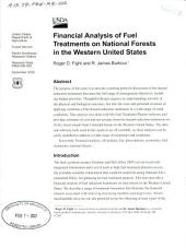 Financial analysis of fuel treatments on national forests in the western United States