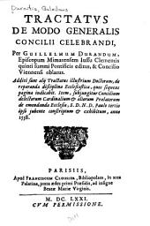 Tractatus de modo generalis concilii celebrandi
