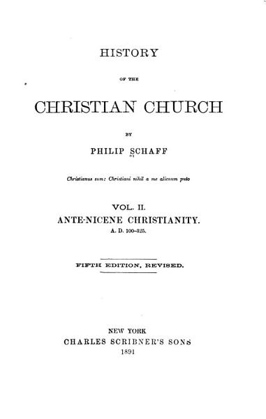 Download History of the Christian Church Book