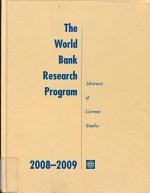 The World Bank Research Program 2008 2009 PDF