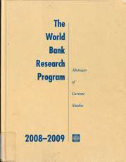 The World Bank Research Program 2008 2009 PDF
