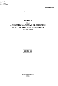 Anales de la Academia Nacional de Ciencias Exactas  F  sicas y Naturales PDF