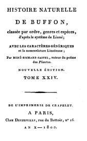 Histoire Naturelle: classée par ordres, genres et espèces, d'après le système de Linnée : avec les Caractères génériques et la nomenclature Linnéenne. Oiseaux ; T. 14, Volume24