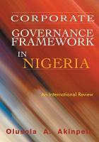Corporate Governance Framework in Nigeria PDF