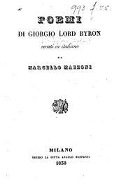Poemi di Giorgio Lord Byron, recati in italiano da Marcello Mazzoni