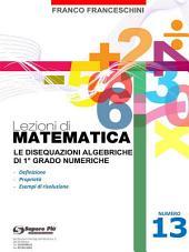 Lezioni di matematica 13 - Le Disequazioni Algebriche di Primo Grado