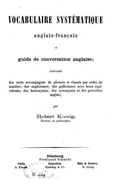 Download Vocabulaire syst  matique anglais fran  ais et guide de conversation anglaise Book