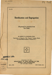 Sterilization and segregation ...