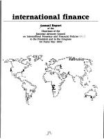 Annual Report of the Chairman of the National Advisory Council on International Monetary and Financial Policies to the President and to the Congress for Fiscal Year     PDF