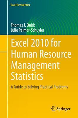 Excel 2010 for Human Resource Management Statistics