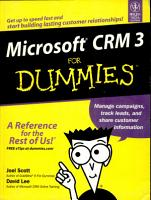 Miscrosoft Crm 3 For Dummies PDF