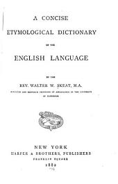 A Concise Etymological Dictionary of the English Language