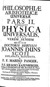 Philosophia Aristotelica univ: 2