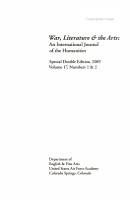 War  Literature  and the Arts PDF