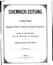 Chemiker-Zeitung/Chemische Apparatur: Band 16,Teil 1