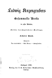 Gesammelte Werke von Ludwig Anzengruber: Das vierte Gebot. Alte Wiener. Heimg'funden