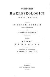 Corporis haereseologici... edidit Franciscus Oehler