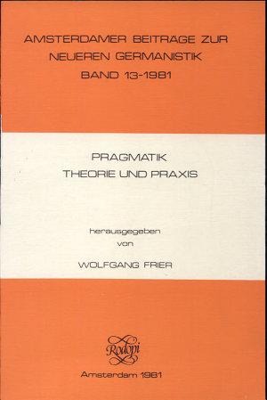 Pragmatik  Theorie und Praxis PDF
