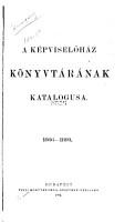 A k  pvisel  h  z k  nyvt  r  nak katalogusa  1868 1893 PDF