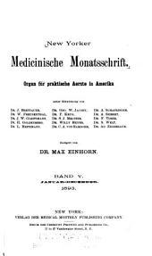 New Yorker medicinische Monatsschrift: Volume 5