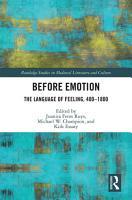 Before Emotion  The Language of Feeling  400 1800 PDF