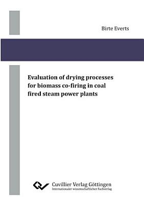 Evaluation of drying processes for biomass co-firing in coal fired steam power plants