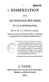 Dissertation sur le domaine des mers et la contrebande