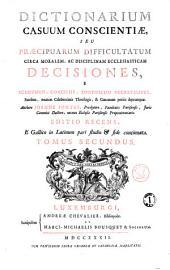 Dictionarium casuum conscientiae, Tomus secundus. E-O: Volume 2