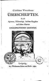 Christian Wernikens ÜBERSCHRIFTEN