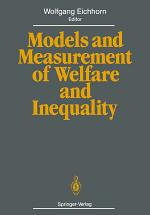 Models and Measurement of Welfare and Inequality