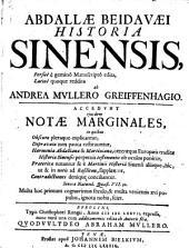 Abdallae Beidavaei Historia Sinensis