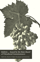 Bulletin ... Issued by the State Board of Viticultural Commissioners: Issues 1-14