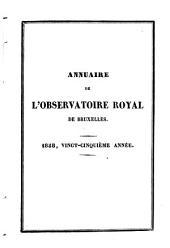 Annuaire de l'Observatoire Royal de Bruxelles: Volume25