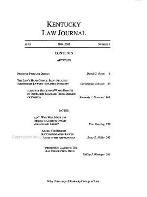 Kentucky Law Journal PDF