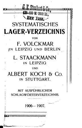 Systematisches lagerverzeichnis PDF