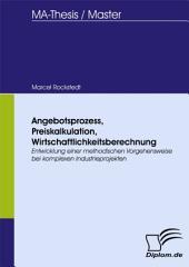Angebotsprozess, Preiskalkulation, Wirtschaftlichkeitsberechnung: Entwicklung einer methodischen Vorgehensweise bei komplexen Industrieprojekten