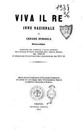 Viva il Re inno nazionale di Cesare Bordiga fiorentino