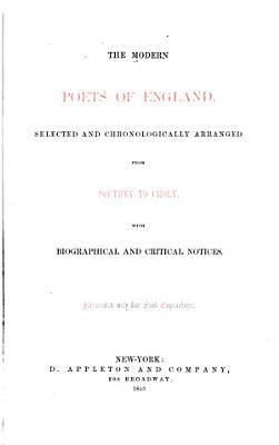 The Modern Poets of England PDF