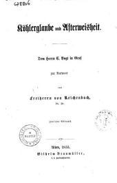 Köhlerglaube und afterweisheit dem Herrn C. Vogt in Genf zur antwort von Freiherrn von Reichenbach