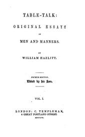 Table-talk; or, Original essays