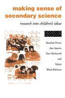 Making Sense of Secondary Science PDF