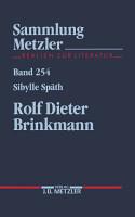 Rolf Dieter Brinkmann PDF