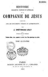 Histoire religieuse, politique et littéraire de la Compagnie de Jésus: Volume4