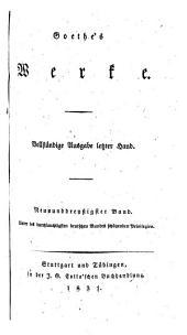 Goethe's Werke: Bände 39-40