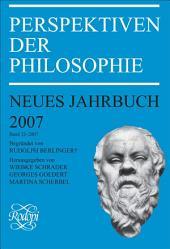 Perspektiven Der Philosophie: Bände 33-2007