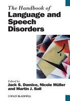 The Handbook of Language and Speech Disorders PDF